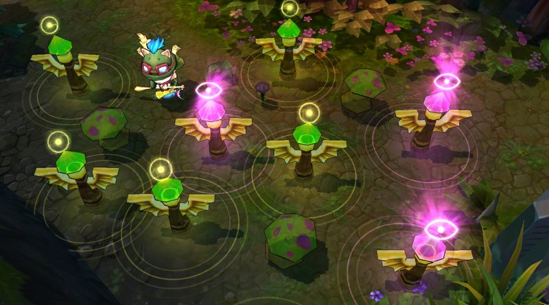 LoL: Strategically Placing Pink Wards, Fog of War For Fake Ganks
