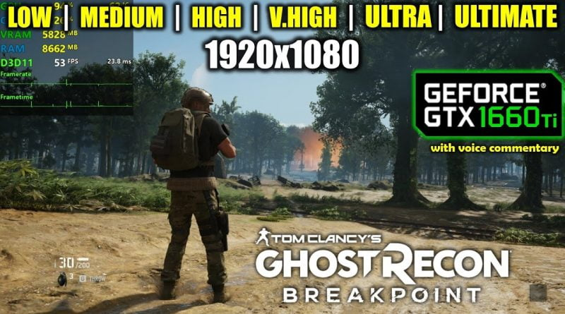 Ghost Recon Breakpoint On Geforce GTX 1660 Ti at 1080p Benchmarks