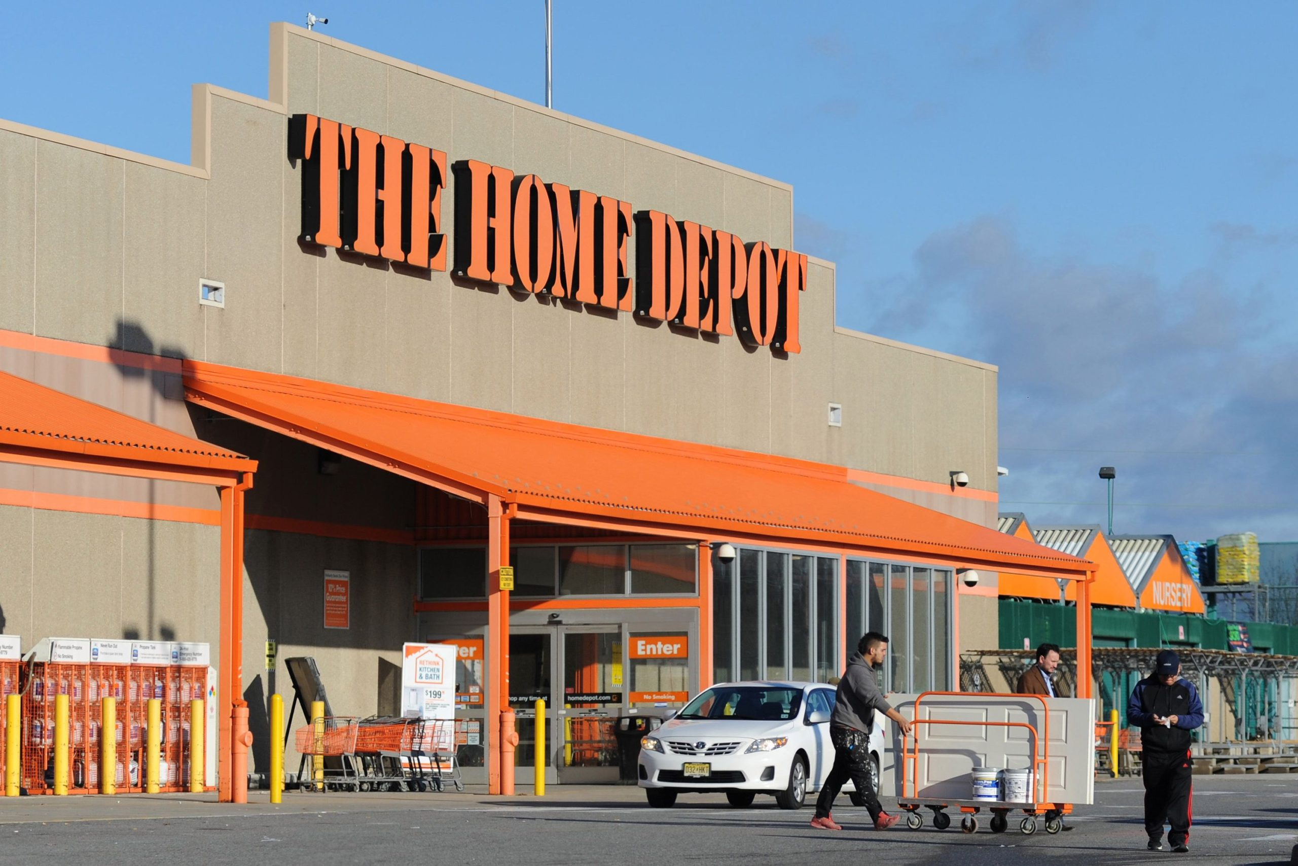 home depot stock surges