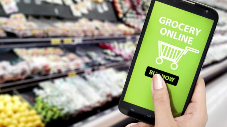 grocery online surges